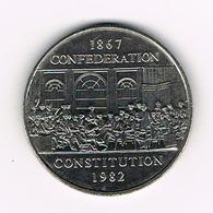 //  CANADA 1  DOLLAR  1982 CONSTITUTION - Canada