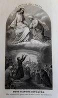 GRANDE GRAVURE IMAGE PIEUSE DELIVRANCE CHOLERA 1854 EPIDEMIE BOUASSE COLERA HOLY CARD SANTINI DEVOTIEPRENTJE - Images Religieuses