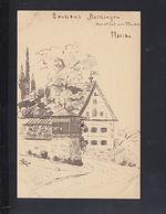 Württemberg Zeichnung Auf PK 1897 Rainau Dalkingen Gasthof Zur Taube - Stuttgart