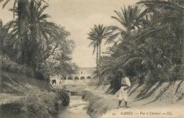 Gabes Vue à Chenini Palmeraie Oasis Palmiers Oued Envoi De Triaga Vers Jules Mattei Emprunt Marocain Tanger - Tunesien