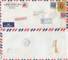 COVER CHINA. HONG KONG REGISTERED COVER TO FRANCE. 17$ 40c.  WATERTOWN   / 2 - Hong Kong (...-1997)