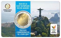 BELGIO   2 Euro 2016  RIO DE JANEIRO COINCARD - Belgique