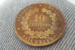 """10 Centimes """"Ceres"""" De 1876 K En TB.(65 Euros En B Et 160 Euros En TB= Site: E-monnaies) - D. 10 Centimes"""