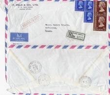 COVER CHINA. HONG KONG REGISTERED COVER TO FRANCE. 4$ 90c.  FELD  / 2 - Hong Kong (...-1997)