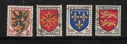 France Timbres De 1944 Armoiries  N°602 A 605 Oblitérés - Used Stamps