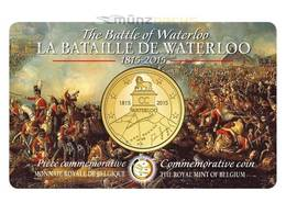 BELGIO   2,5  Euro 2015 LA BATAILLE DE WATERLOO COINCARD - Belgio