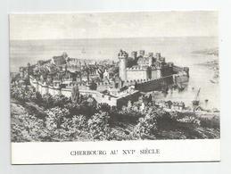 50 Manche - Cherbourg Au 16e Siècle Carte Double - Cherbourg