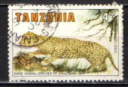 TANZANIA - 1985 - RARE SPECIE DI ANIMALI DI ZANZIBAR: LEOPARDO - USATO - Tanzania (1964-...)