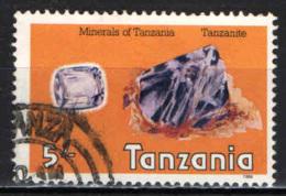 TANZANIA - 1986 - PIETRE PREZIOSE: TANZANITE - USATO - Tanzania (1964-...)