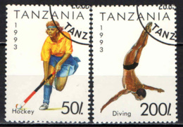 TANZANIA - 1993 - SPORTS: HOCKEY E TUFFI - USATI - Tanzania (1964-...)