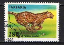 TANZANIA - 1995 - PANTERA - USATO - Tanzania (1964-...)