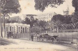 CPA 83 @ HYERES - SAN SALVADOUR - Entrée Principale Calèche Attelage Automobile - Hyeres