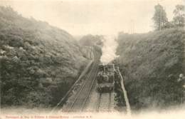 77 - COUPVRAY - Tranchée Du Chemin De Fer En 1904 - Train Beau Plan - Other Municipalities