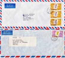 Postal History: St Vincent 3 Covers With Maps Stamps - Geography
