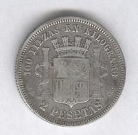 2 Pesetas Espagne 1870 - Gouvernement Provisoire ( Lot 2 ) - [ 1] …-1931 : Reino
