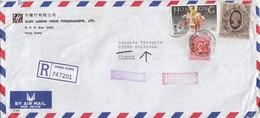 COVER CHINA. HONG KONG  EXPRESS REGISTERED  COVER TO FRANCE. 16$ 00c.  YUEN LOONG  / 2 - Hong Kong (...-1997)