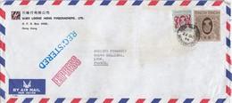 COVER CHINA. HONG KONG  EXPRESS REGISTERED  COVER TO FRANCE. 10$ 40c.  YUEN LOONG  / 2 - Hong Kong (...-1997)