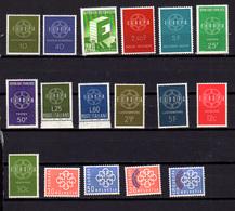 1959   Europa, Année Complète Europa 1959, 8 Pays **, Cote 58 €, - Europa-CEPT