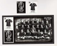 New Zealand 2010 Maori Rugby 100 Years Set Of 2 + Minisheet MNH - New Zealand