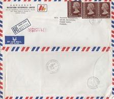COVER CHINA. HONG KONG  REGISTERED   COVER TO FRANCE.  6$ WATERTOWN / 2 - Hong Kong (...-1997)