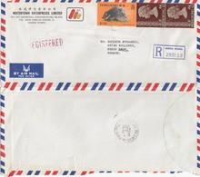 COVER CHINA. HONG KONG  REGISTERED   COVER TO FRANCE.  5$ 30c WATERTOWN / 2 - Hong Kong (...-1997)