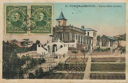 Port Au Prince Eglise Saint Antoine Collection Couba . 2 Stamps Cayes  To Central San Antonio Guantanamo Sugar Mill - Haïti