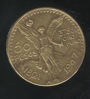 Fausse 50 Pesos Mexique - Tranche Gravée Comme Sur Original - Exonumia - Specimen
