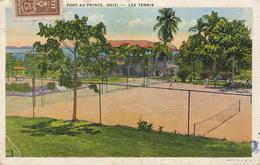 Port Au Prince  Tennis Court 3  Stamps To USA  Club Thorland Some Creases - Haïti