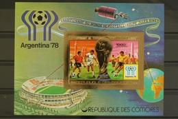 Komoren, MiNr. Block 124 B, Fußball WM 1978, Postfrisch / MNH - Komoren (1975-...)