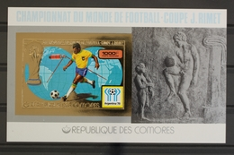 Komoren, MiNr. Block 123 B, Fußball WM 1978, Postfrisch / MNH - Komoren (1975-...)