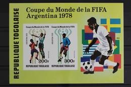 Togo, MiNr. Block 133 B, Fußball WM 1978, Postfrisch / MNH - Togo (1960-...)