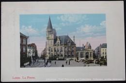 Liège La Poste Tram Et Marché Market Markt - Poste & Facteurs