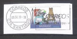 España 2019 - 1 Sello Usado Y Circulado-Badajoz-Serie Provincias De España-Espagne Spain Spanien Spagna - 1931-Today: 2nd Rep - ... Juan Carlos I