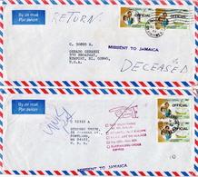 Postal History: Grenadines Of St Vincent 18 Covers Returned To Sender - St.Vincent & Grenadines