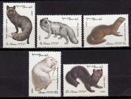 Russia - Soviet Union 1980 Mi.4968-72 Pelz-Tiere ** MNH Set   (83013 - Nager