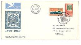 AFRIQUE DU SUD OUEST 1969 CENTENAIRE DU 1 ER TIMBRE SUD AFRICAIN - Briefmarken Auf Briefmarken