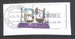 España 2019 - 1 Sello Usado Y Circulado-Burgos-Serie Provincias De España-Espagne Spain Spanien Spagna - 1931-Today: 2nd Rep - ... Juan Carlos I