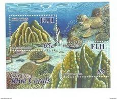 2015 Fiji Coral Reef Souvenir Sheet Of 2 MNH - Fiji (1970-...)