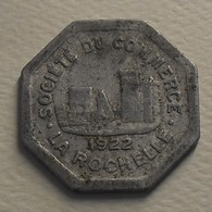 1922 - France - Jeton - Token - 25 CENTIMES, Société Du Commerce, La Rochelle (17) - Monetari / Di Necessità