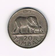 //  MALAWI 20 TAMBALA 1971 - Malawi