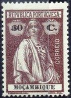 MOZAMBICO, MOZAMBIQUE, PORTUGUESE COLONY, CERES, 1913, 30 C., NUOVO (MLH*) Mi. 165xA,  Scott 161, YT 167,   Afi 165 - Mozambique