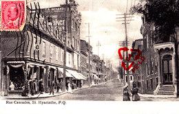 Rue Cascades, St HYACINTHE, P. Q. - CANADA - QUEBEC - Carte Circulée En 1910 - St. Hyacinthe