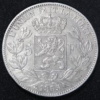LEOPOLD II 5 FR 1865   TOP KWALITEIT   4 AFBEELDINGEN - 1831-1865: Leopold I
