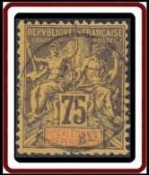 Nouvelle Calédonie 1892-1902 - N° 52 (YT) N° 46 (AM) Oblitéré. - Nouvelle-Calédonie