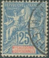 Nouvelle Calédonie 1892-1902 - N° 62 (YT) N° 56 (AM) Oblitéré. - Nouvelle-Calédonie