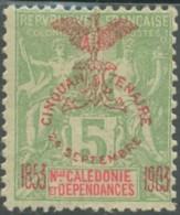 Nouvelle Calédonie 1903-1909 - N° 71 (YT) N° 64 (AM) Neuf *. - Nouvelle-Calédonie