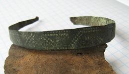 Ancient Vikings Bronze Bracelet 10-13 Centuries - Archéologie