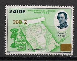 Zaire - 1990 - N°Yv. 1291 - Timbre Surchargé - Neuf Luxe ** / MNH / Postfrisch - Zaire