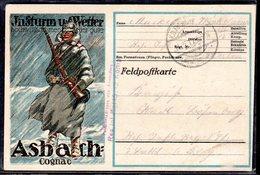 "Feldpostkarte, Mit Werbung ""Asbach Cognac"" - Briefe U. Dokumente"