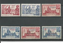 KOUANG TCHEOU Scott 133-134**, 135-6*, B9-B10* Yvert 118-119**, 138-139*, 156-157* (6) ** Et * 6,50 $ 1939-41 - Kouang-Tchéou (1906-1945)